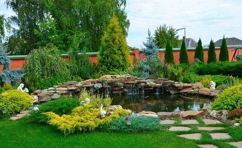 Водоём декоративный. Decorative pond.